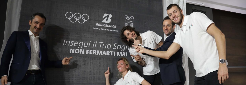 Nicola Savino, Valeria Straneo, Gianmarco Tamberi, Stefano Parisi e Gregorio Paltrinieri